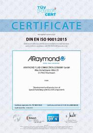 Certificate ISO 9001 - 2021 - AR Fluid Connection Germany (EN)